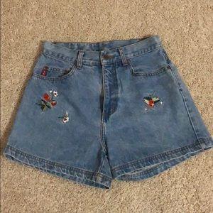 L.E.I VINTAGE Women's 90's Denim Shorts Blue color